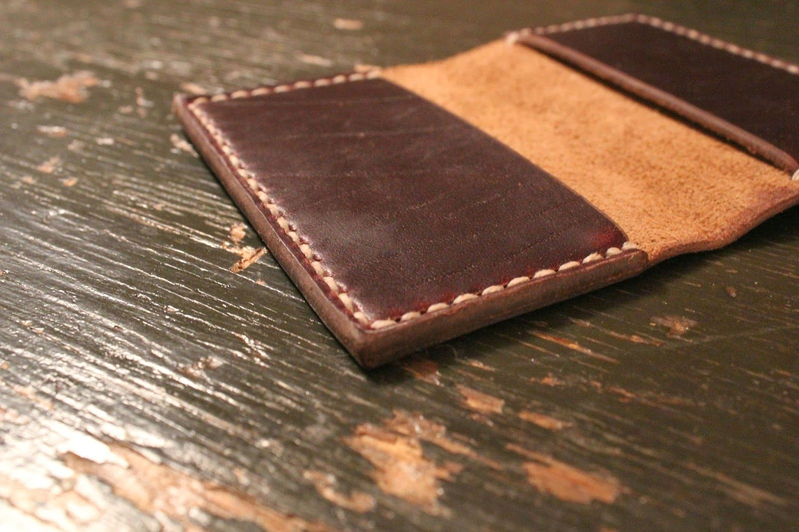 A wallet with your own hands - from leather, felt, wood 73