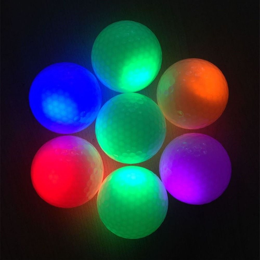 1pc Night Light Glowing Fluorescence Training Golf Balls Light Up Luminous Night Light Up Glow Golf Ball Ball Lights Golf Ball Night Light
