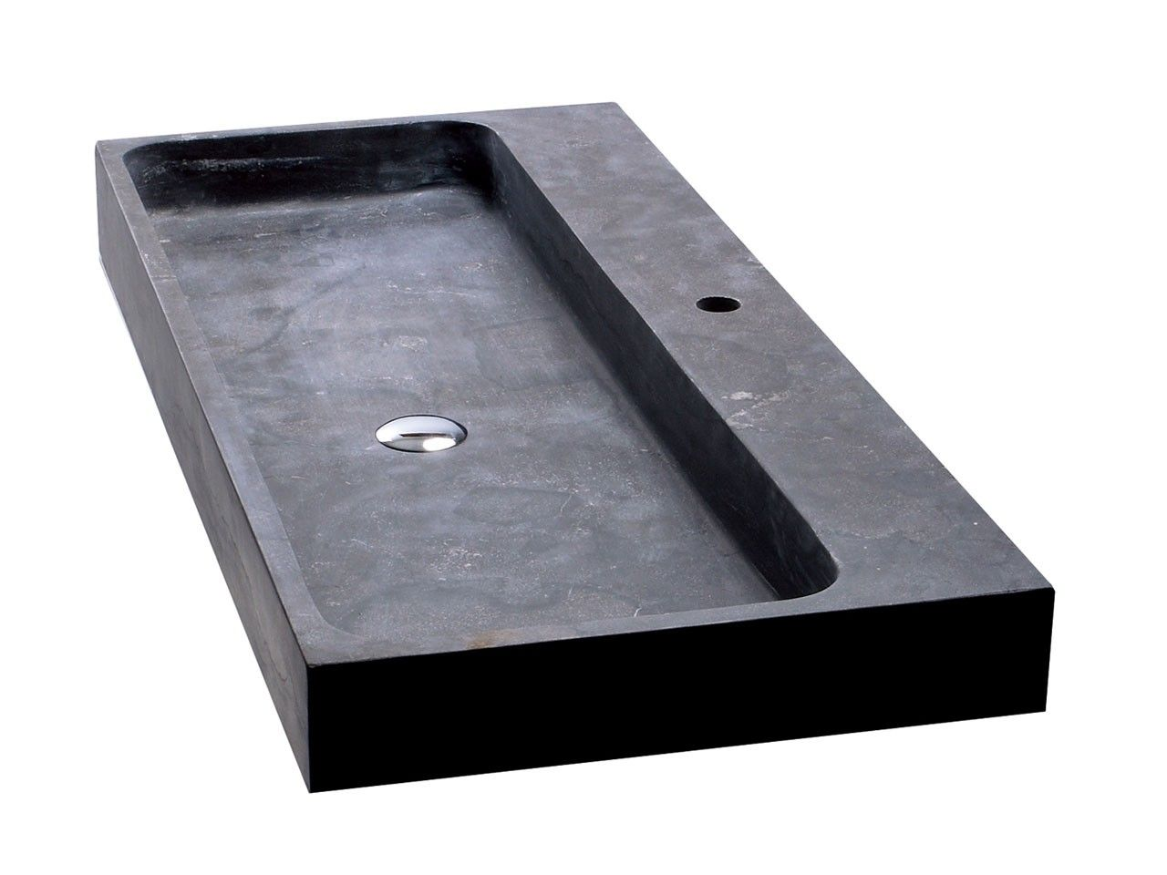 lavabo purestone recife 100x49xh10 nero iperceramica