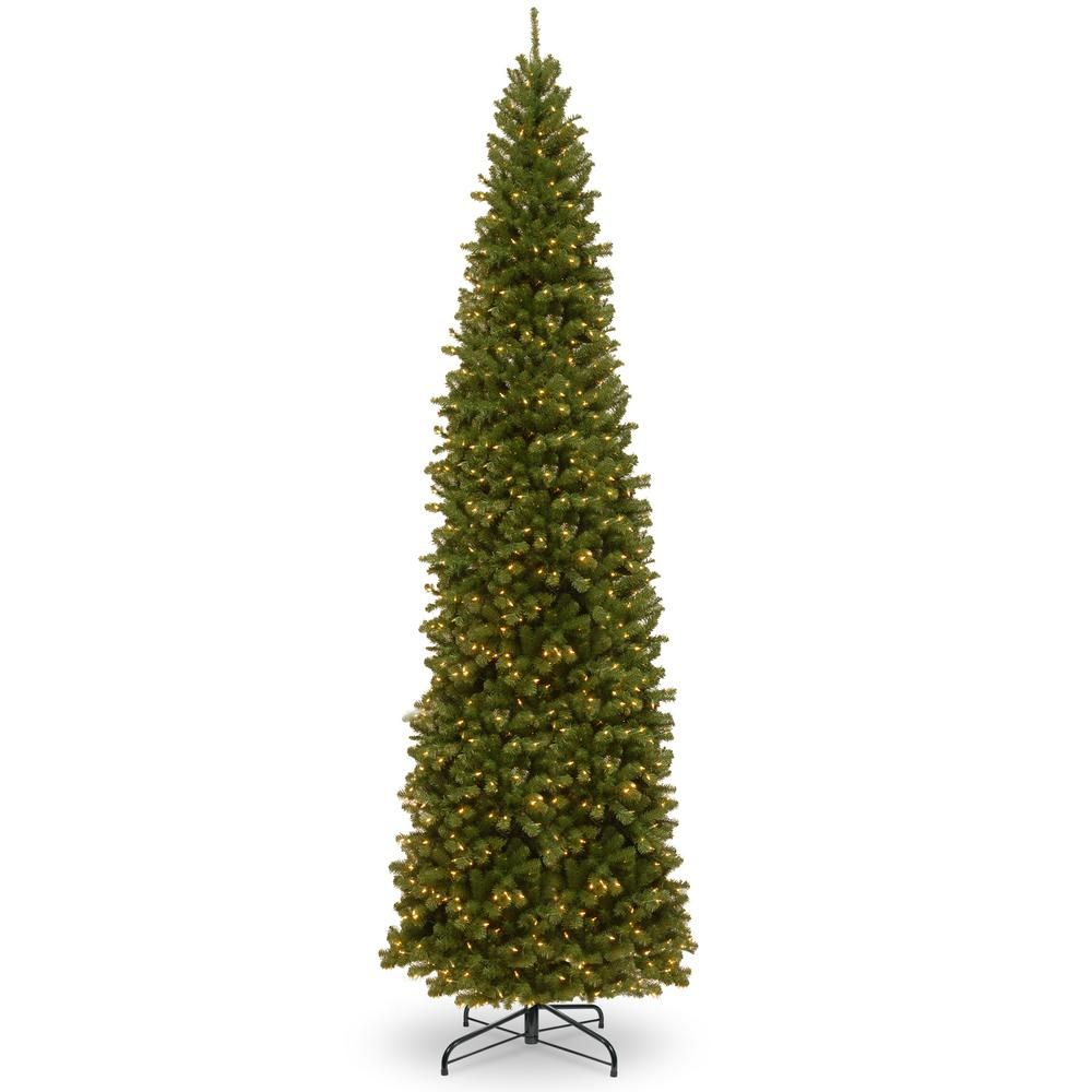 National Tree Company 12 Ft North Valley Spruce Pencil Slim Artificial Christmas Tree With Clear Lights Nrv7 358 120 Slim Artificial Christmas Trees Christmas Tree Clear Lights Slim Christmas Tree
