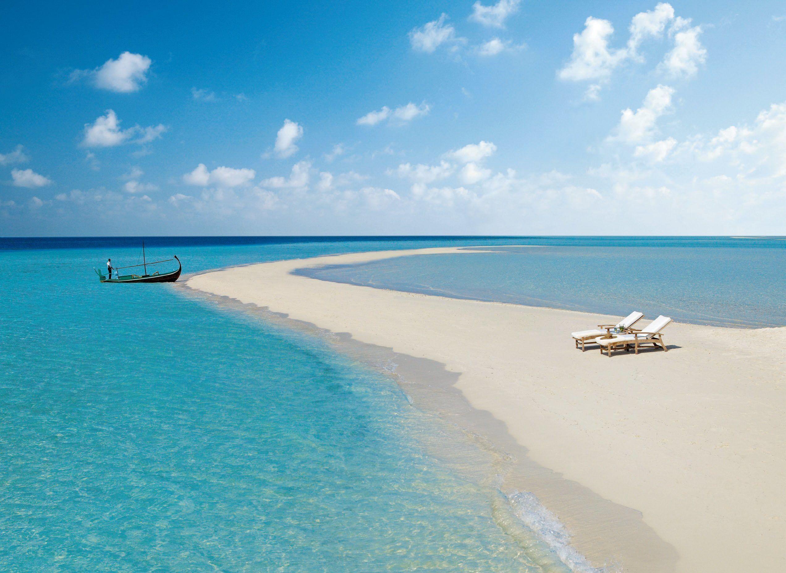 Maldives Beach Maldives Sky Ocean Sea Beach Sand Xhosa Boat Sun Lounger 1080p Wallpaper Hdwallpaper Desktop Maldives Beach Beach Sand Island