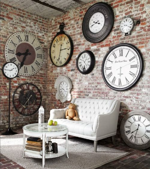 vintage deko f r die wand eine wanduhr im retro style. Black Bedroom Furniture Sets. Home Design Ideas