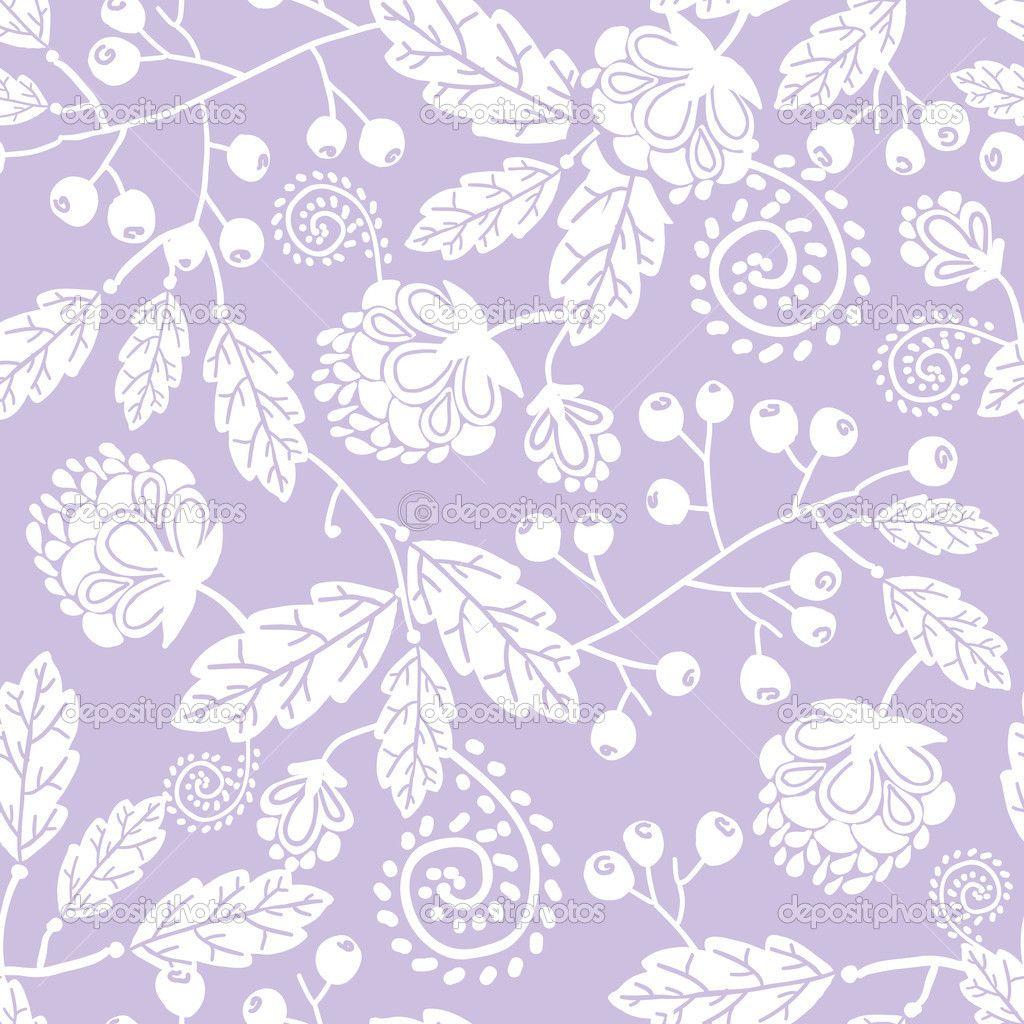 nahtlose Muster Hintergrund lila Linie Kunst Blumen