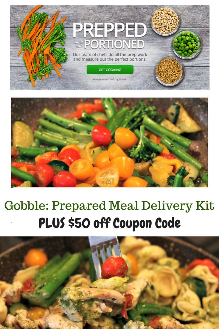 Gobble Prepared Meal Delivery Kit PLUS 50 off Coupon