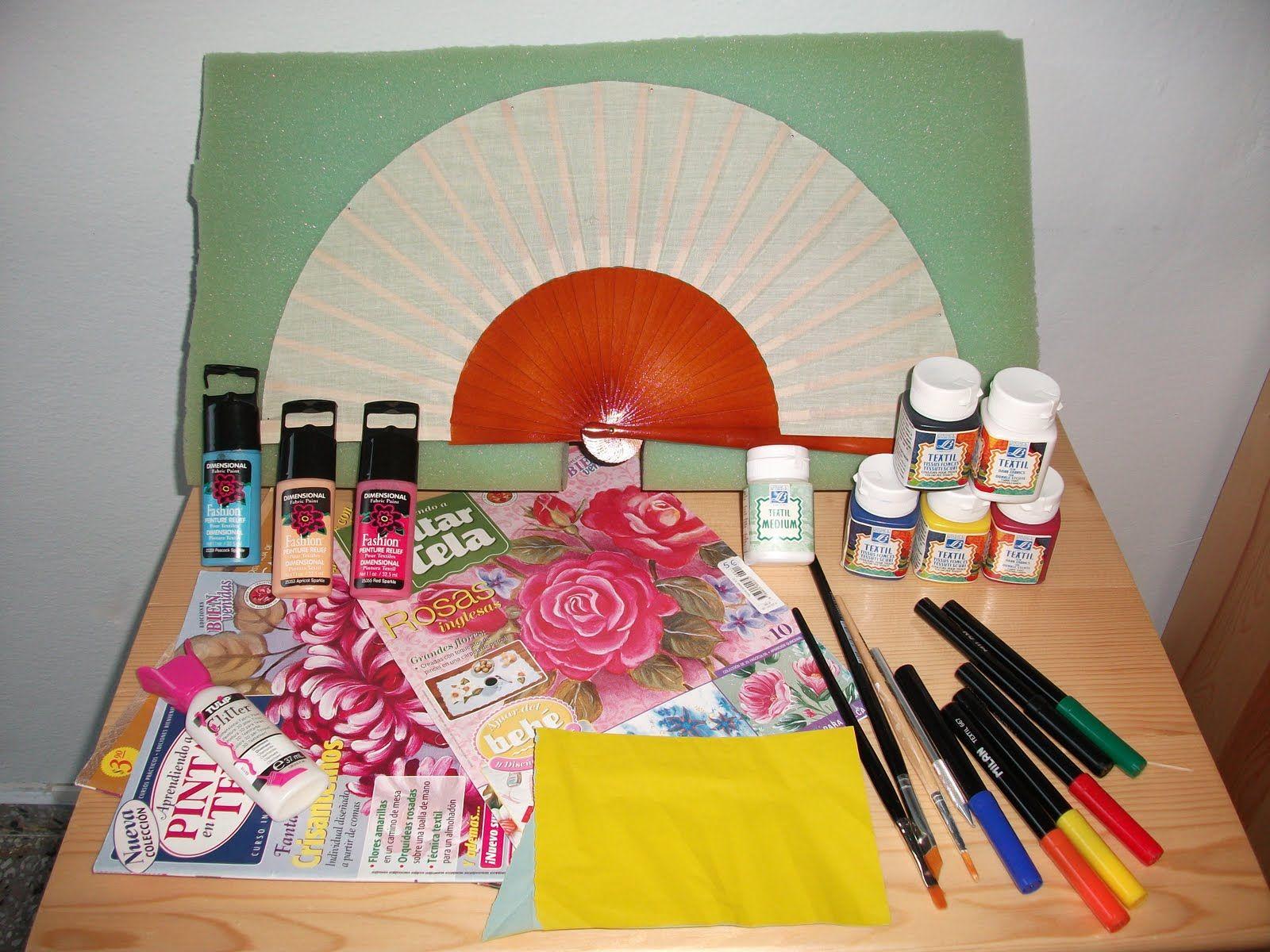 Imagenes de dibujos para pintar en tela de abanicos - Como pintar abanicos ...