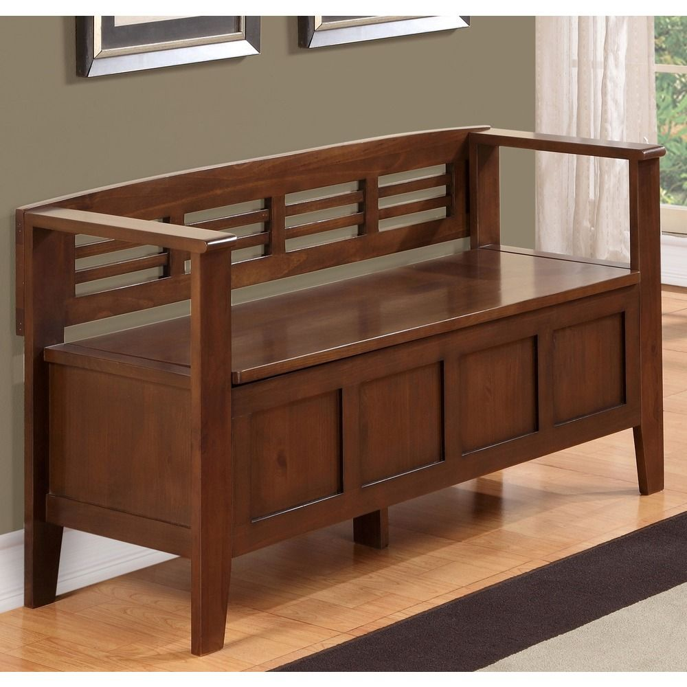 Room Store Chandler: Chandler Rustic Brown Entryway Storage Bench