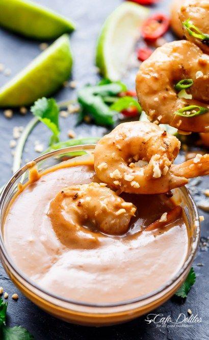 Satay Shrimp Skewers - Cafe Delites