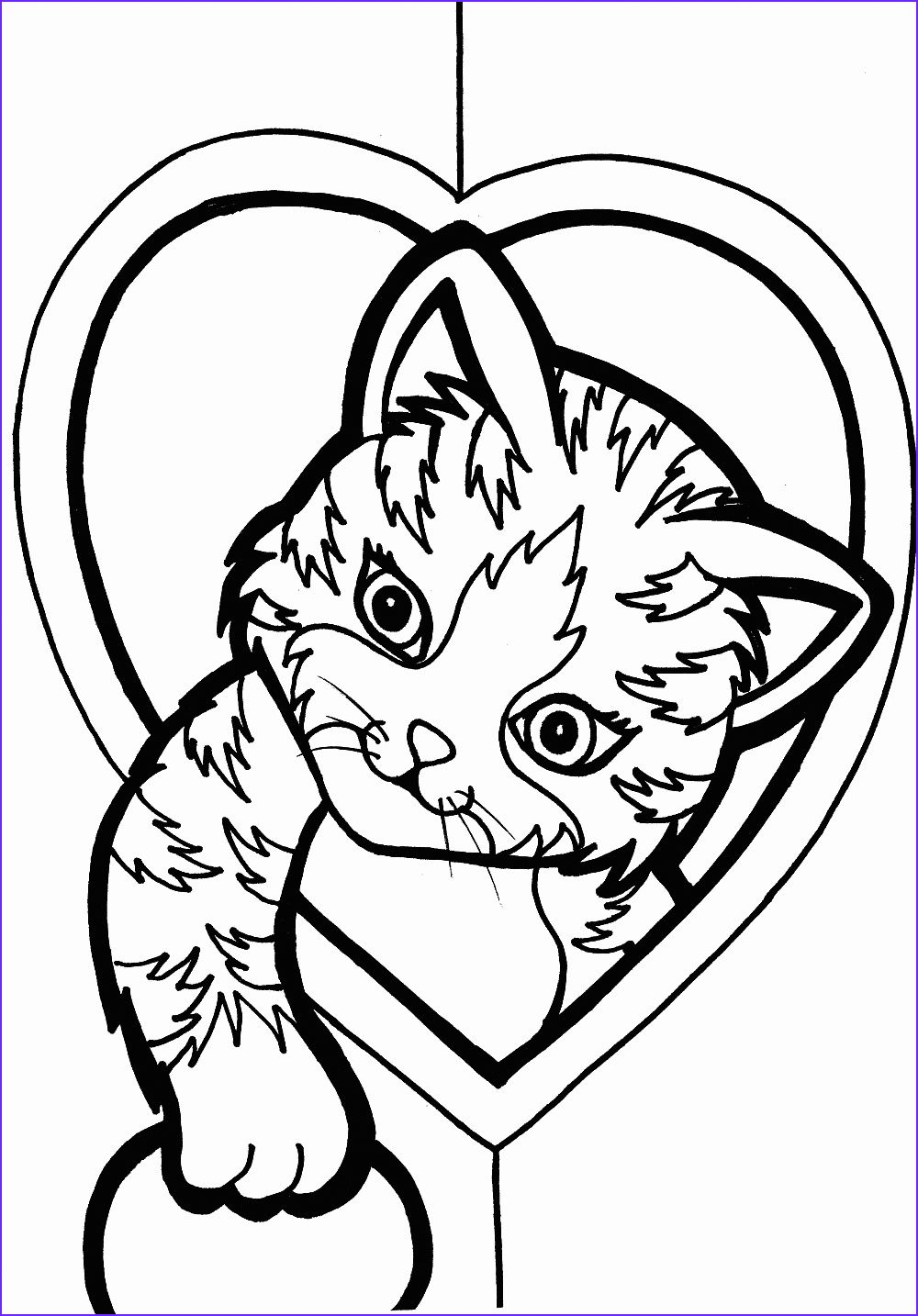 45 Best Of Photos Of Cute Cat Coloring Pages Heart Coloring Pages Cute Coloring Pages Kittens Coloring