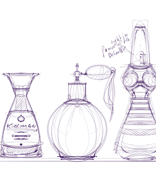Photo of How to dra a Bottle soya sauce perfume bottle- Industrial design sketching
