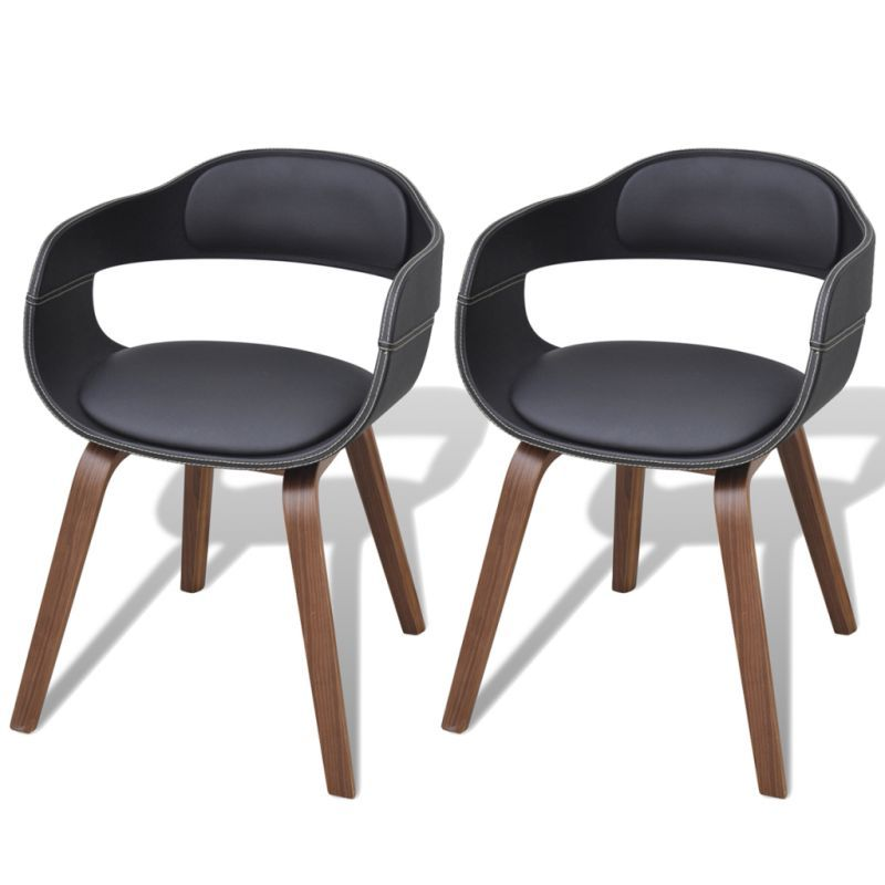 Astounding Vidaxl 2X Dining Chairs With Bentwood Frame Artificial Gmtry Best Dining Table And Chair Ideas Images Gmtryco