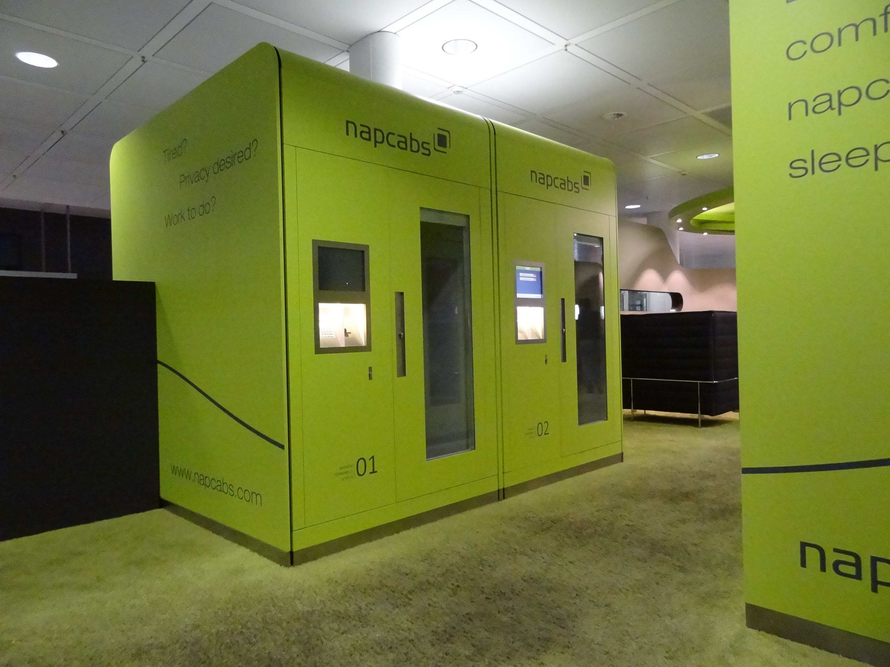In The Napcab   The Sleeping Cabin At The Munich Airport. Capsule HotelMunichAirportsTiny  ...