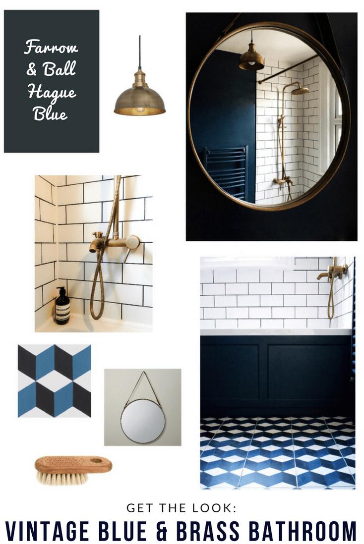 35 Chic And Bold Brass Home Décor Ideas: Vintage Geometric Bathroom Interior Style Home Decor Brass