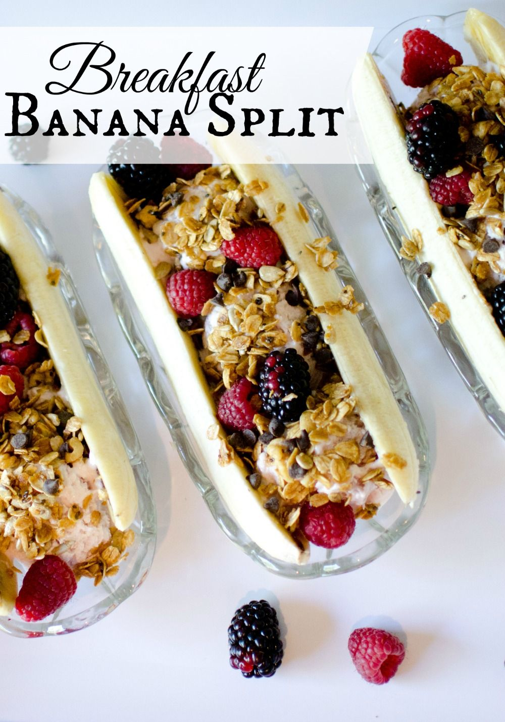 Be a hero and serve this healthy banana split for breakfast!  Shhh! they'll never know it's good for them!