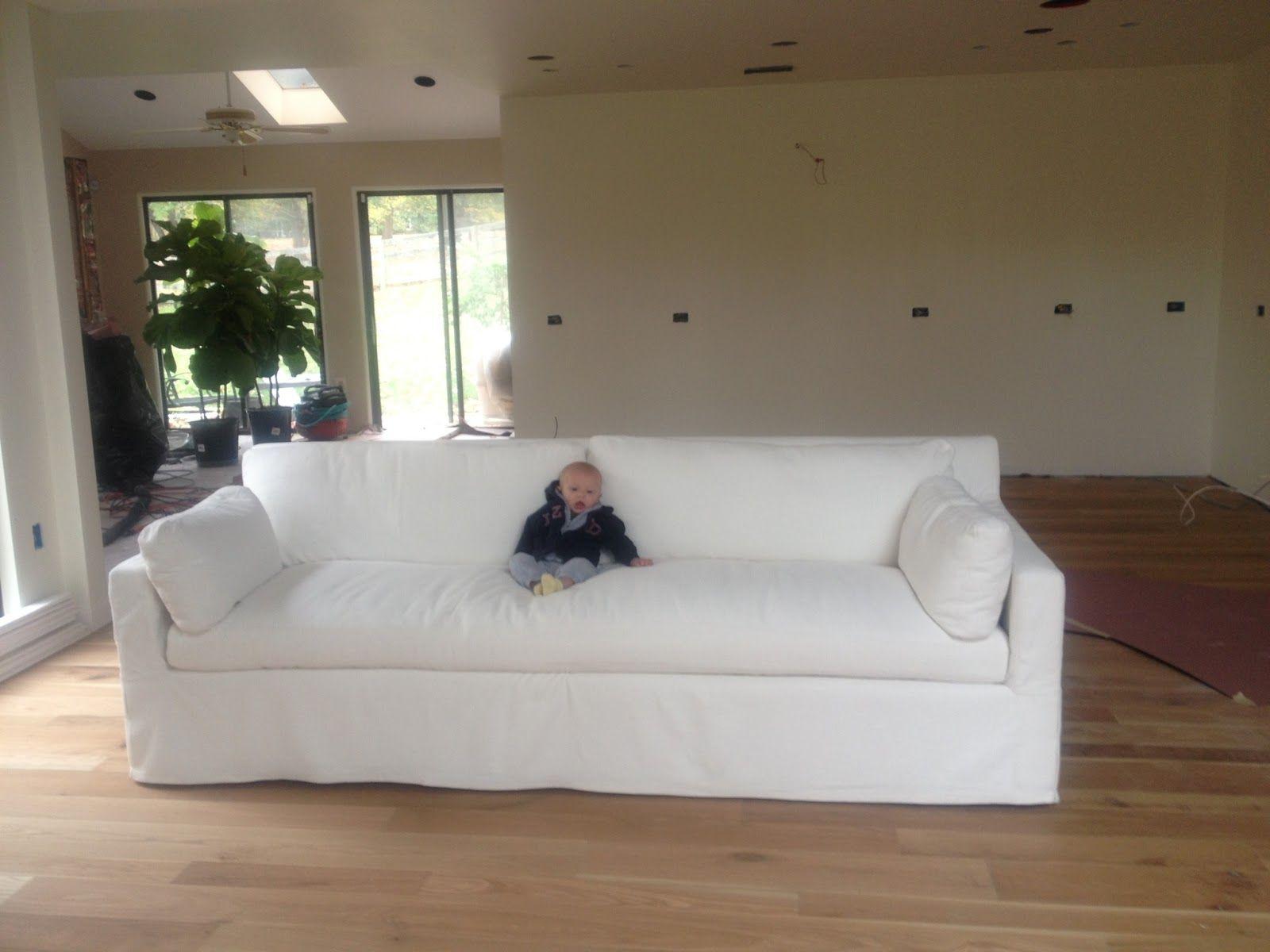 Lauren Liess Washable Sofa Fabrics White Slipcover Sofa