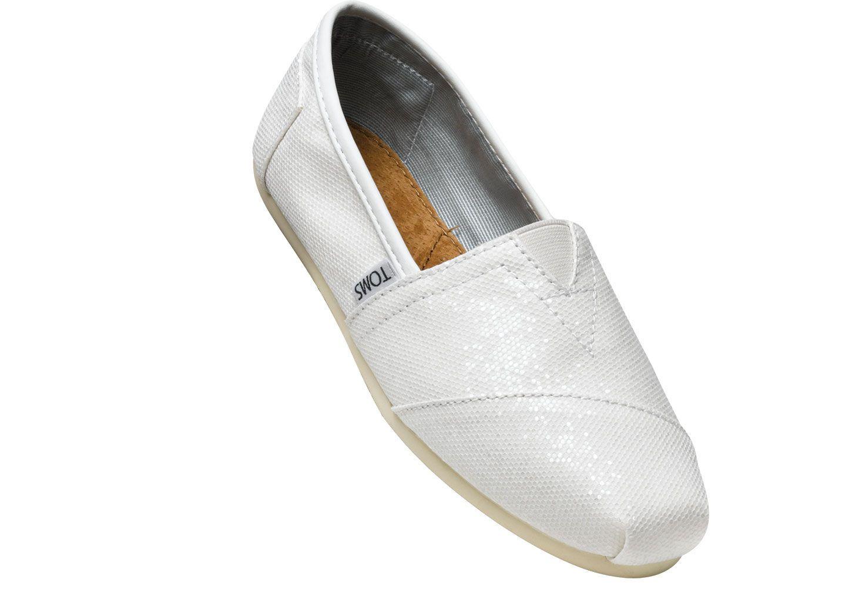 Bridal White Glitter Womens Classics