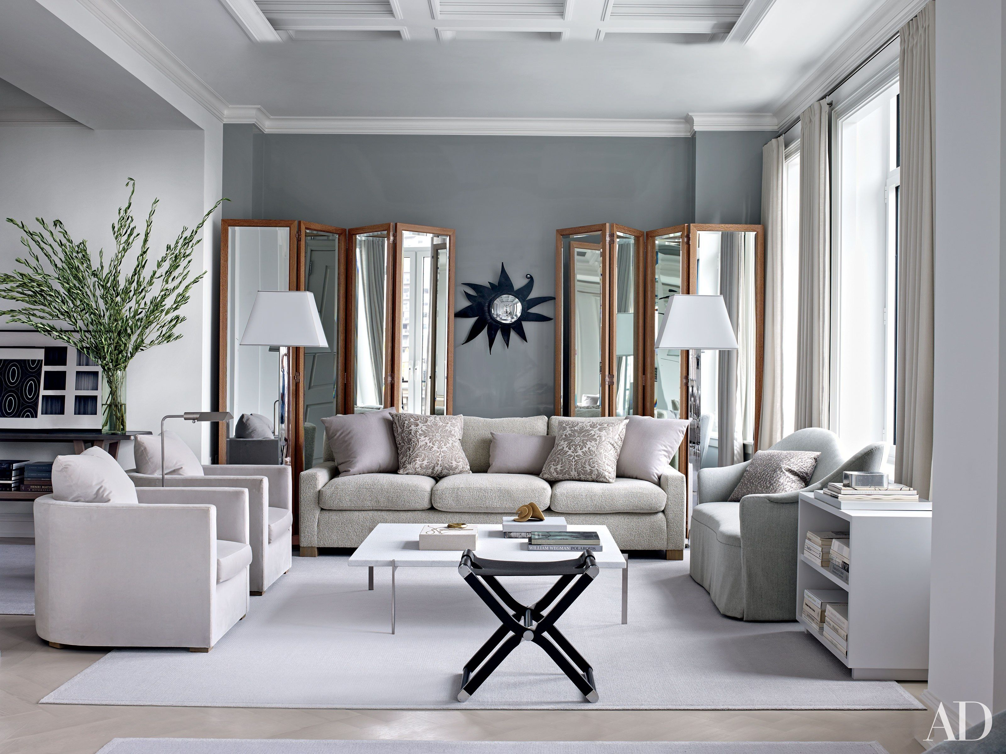 41 Exquisite Gray Rooms From The Ad Archives Living Room