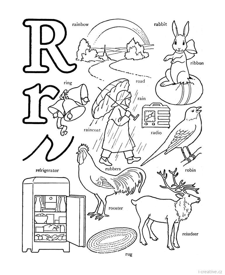 Anglicka Slovicka R Coloring Pages Alphabet Coloring Pages Coloring Letters