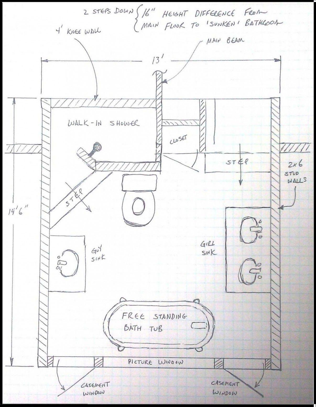 Design A Bathroom Floor Plan Free Desain Interior Ide