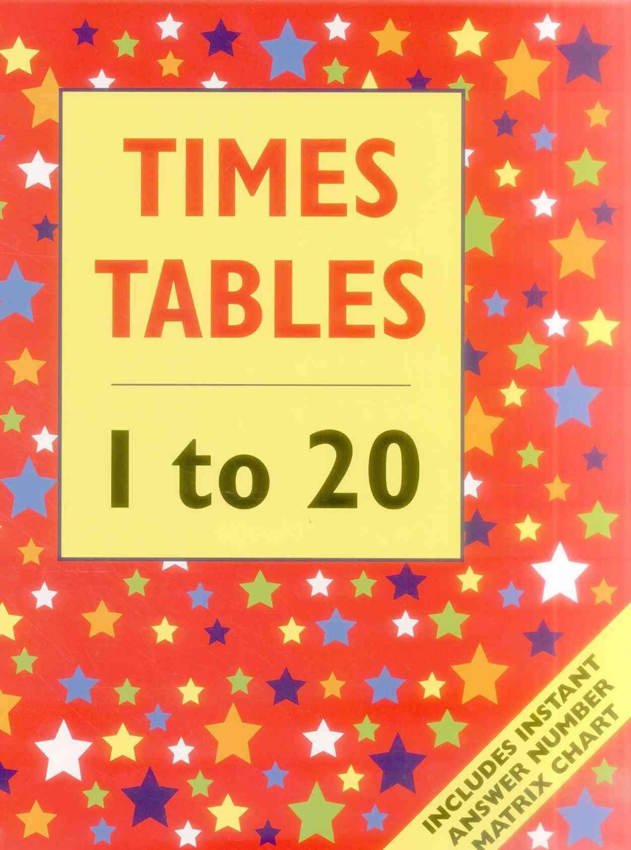 Times Table 1 To 20 Includes Instant Answer Number Matrix