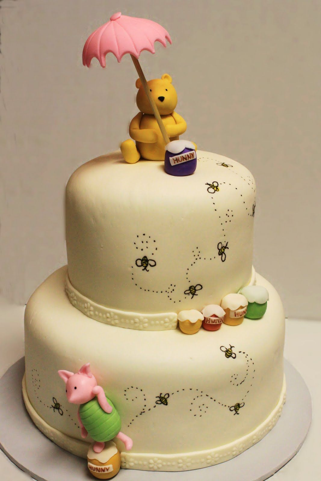 winnie the pooh baby shower cake images