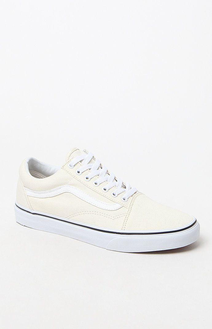 ab0d0d1e3c Vans Canvas Old Skool White Shoes at PacSun.com