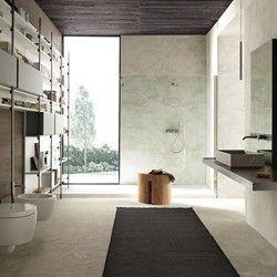 Meuble de salle de bain suspendu en bois et cadre en fer brut MB3 ...