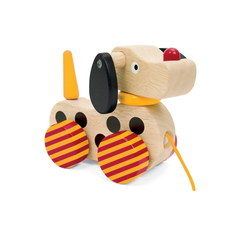 Manhattan Toy Pull Along Wooden Puppy Friend