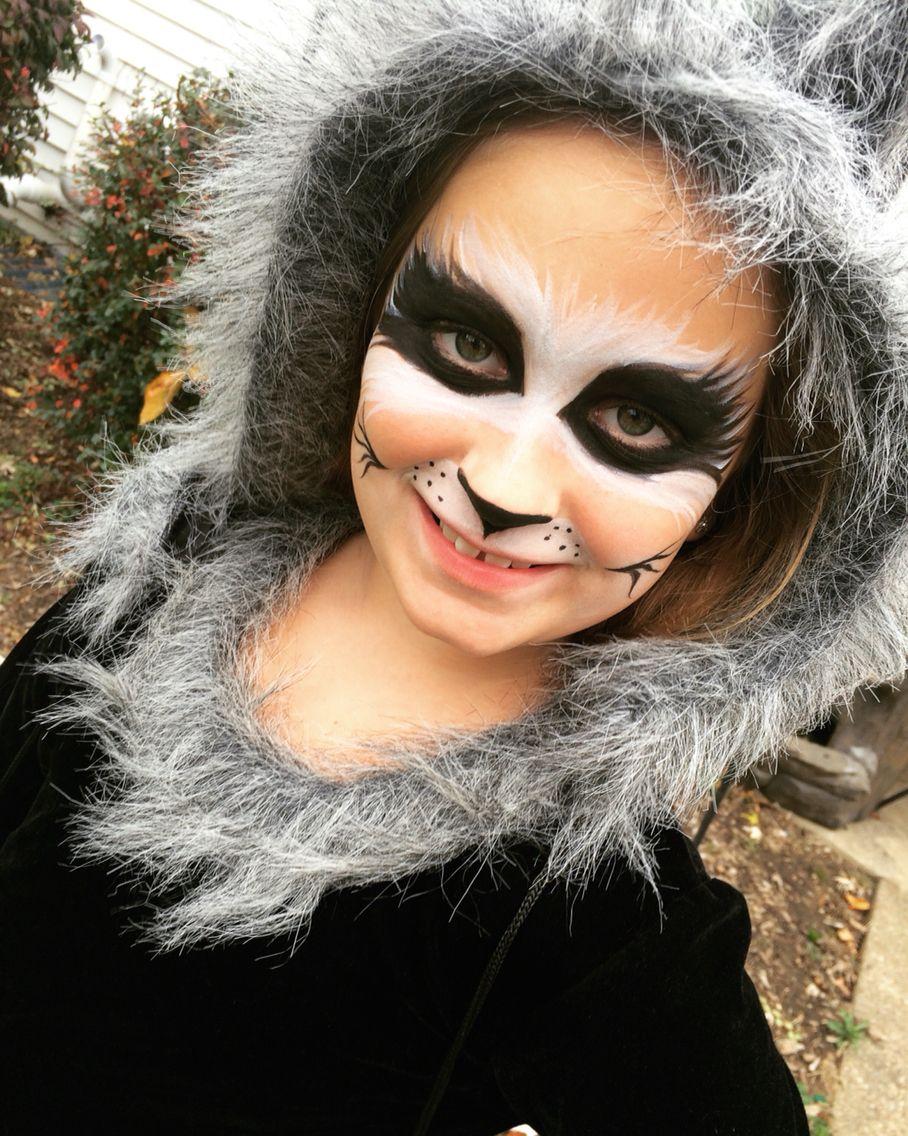 Raccoon Make Up Halloween Make Up In 2019 Pinterest Animal