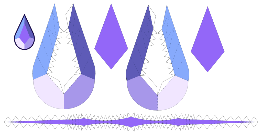 this is the template to build the holly blue agate gem from steven