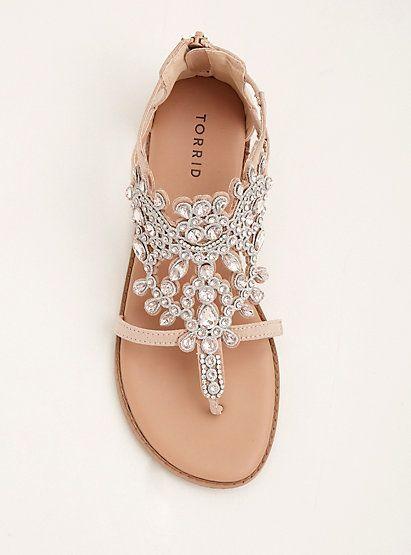 Gemstone T Strap Sandals Wide Width Bride Sandals Wedding Shoes Sandals Wedding Shoes Flats