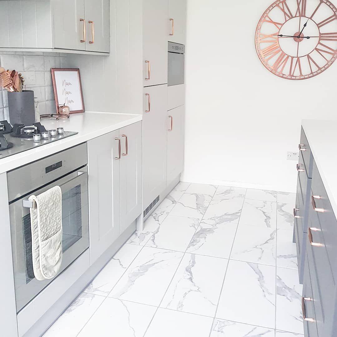 Grey Kitchen With Marble Floor Tiles Grey Marble Kitchen Grey Floor Tiles Grey Marble Floor