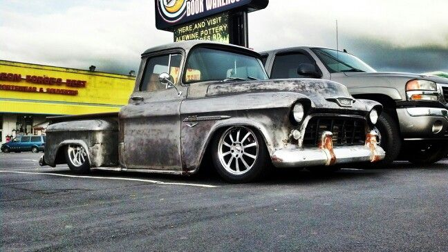 Bare Metal With A Shot Of Clear Coat Chevy Trucks Cool Trucks Chevrolet Pickup