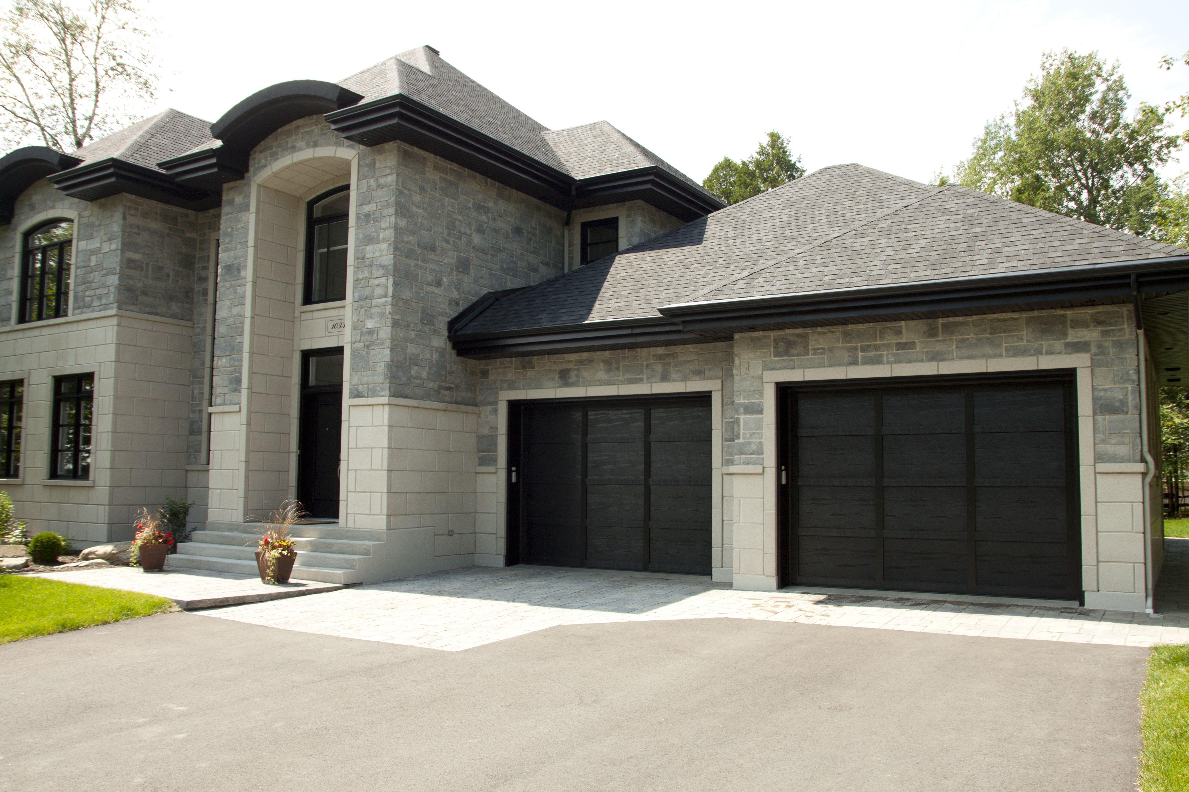 Garage Door Model Cambridge With Overlays Black Get A Free Quote