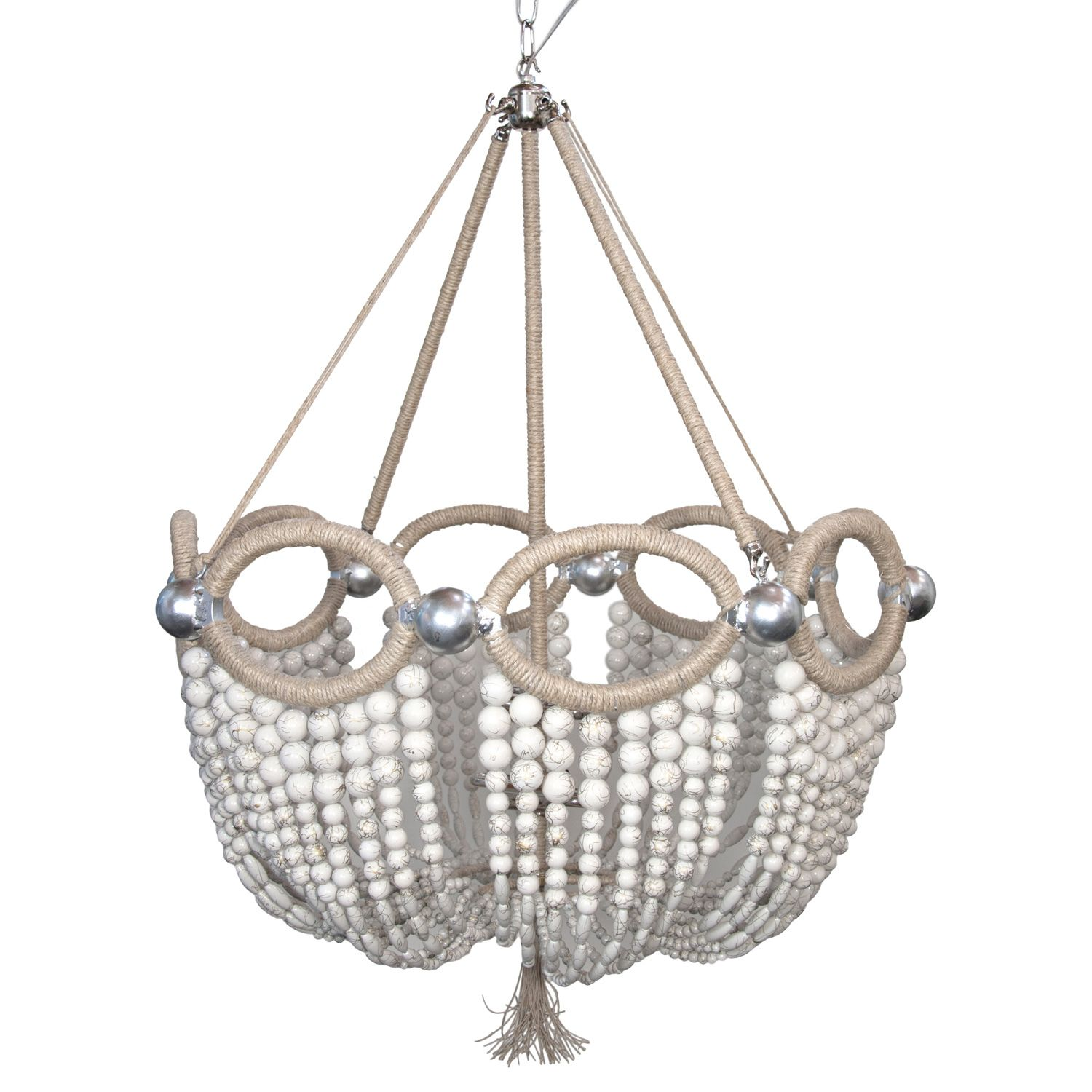 Ro Sham Beaux Fiona As seen in White Swirl beaded chandelier with