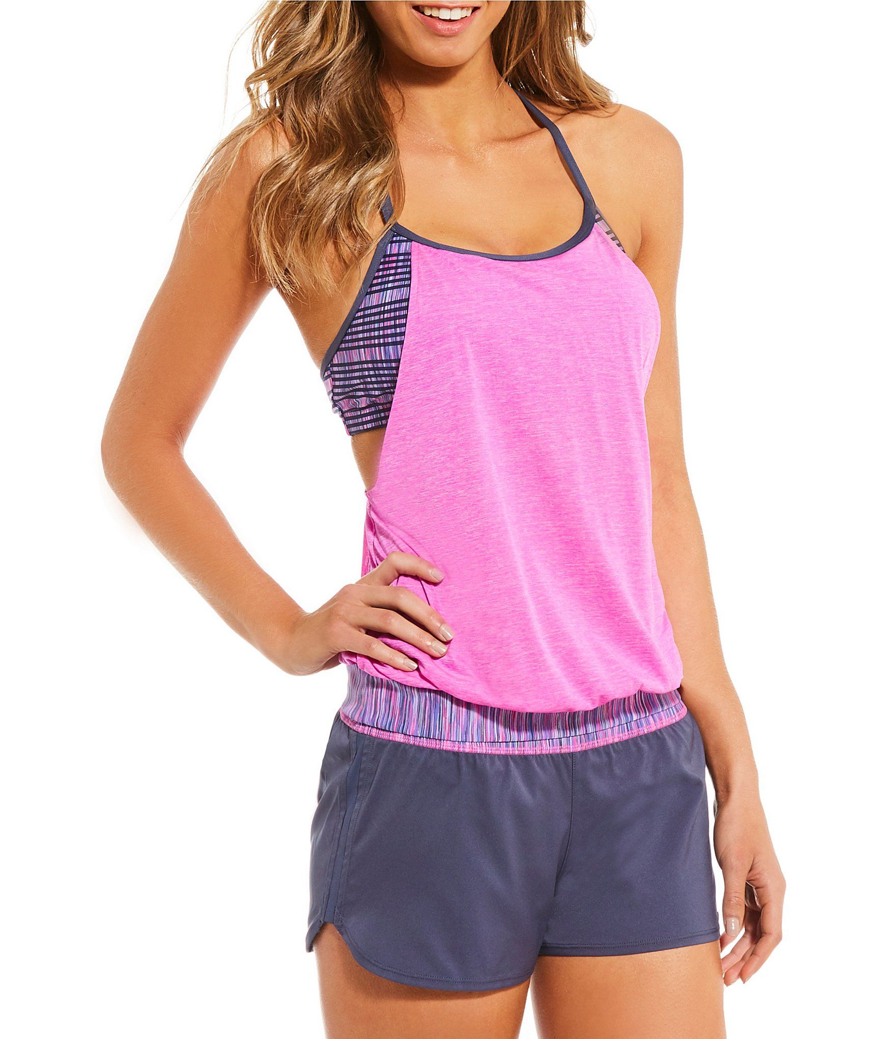 hot sale online 42a4b 32b59 Shop for Nike Double Up Layered Sport Tankini Swimsuit Top   Element Swim  Boardshort Swimsuit Bottom at Dillards.com. Visit Dillards.com to find  clothing, ...