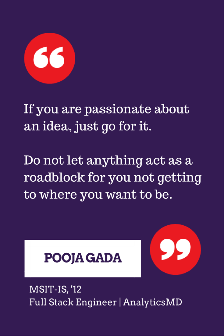 12 Msit Information Security Alum Pooja Gada Offers Advice On Achieving Your Dreams Inspirational Quotes Just Go Dreaming Of You