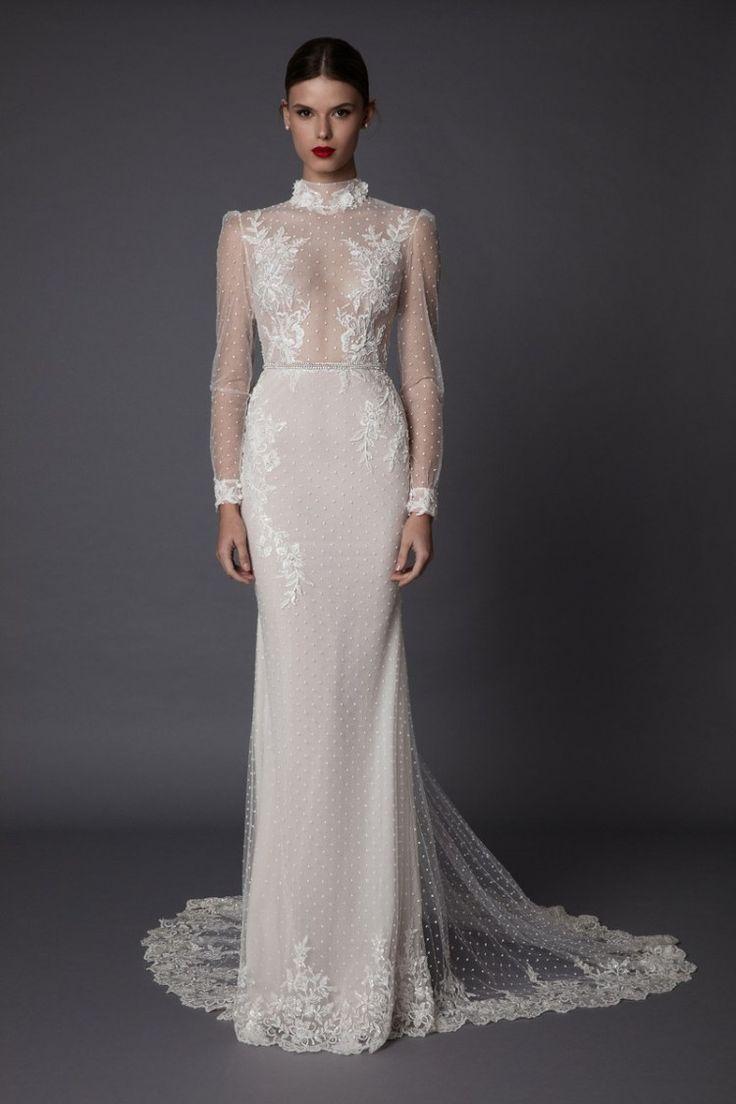 Sheer long sleeve wedding dresses  MUSE by Berta   Wedding Dresses  Potential Wedding dresses if