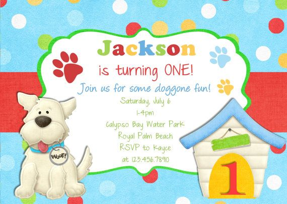 Free Printables Dog Invitation For Birthday Party