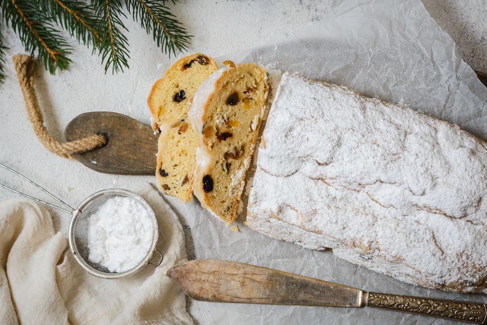 German Christmas Stollen Sourdough fruit bread in 2018 Pinterest