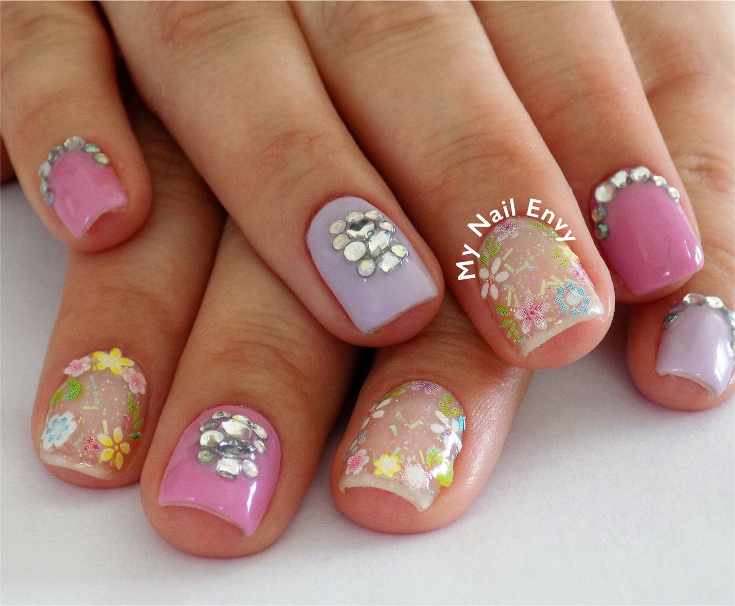 Mothers Day Nails – My Nail Envy acrylic nails, ez flow, floral ...