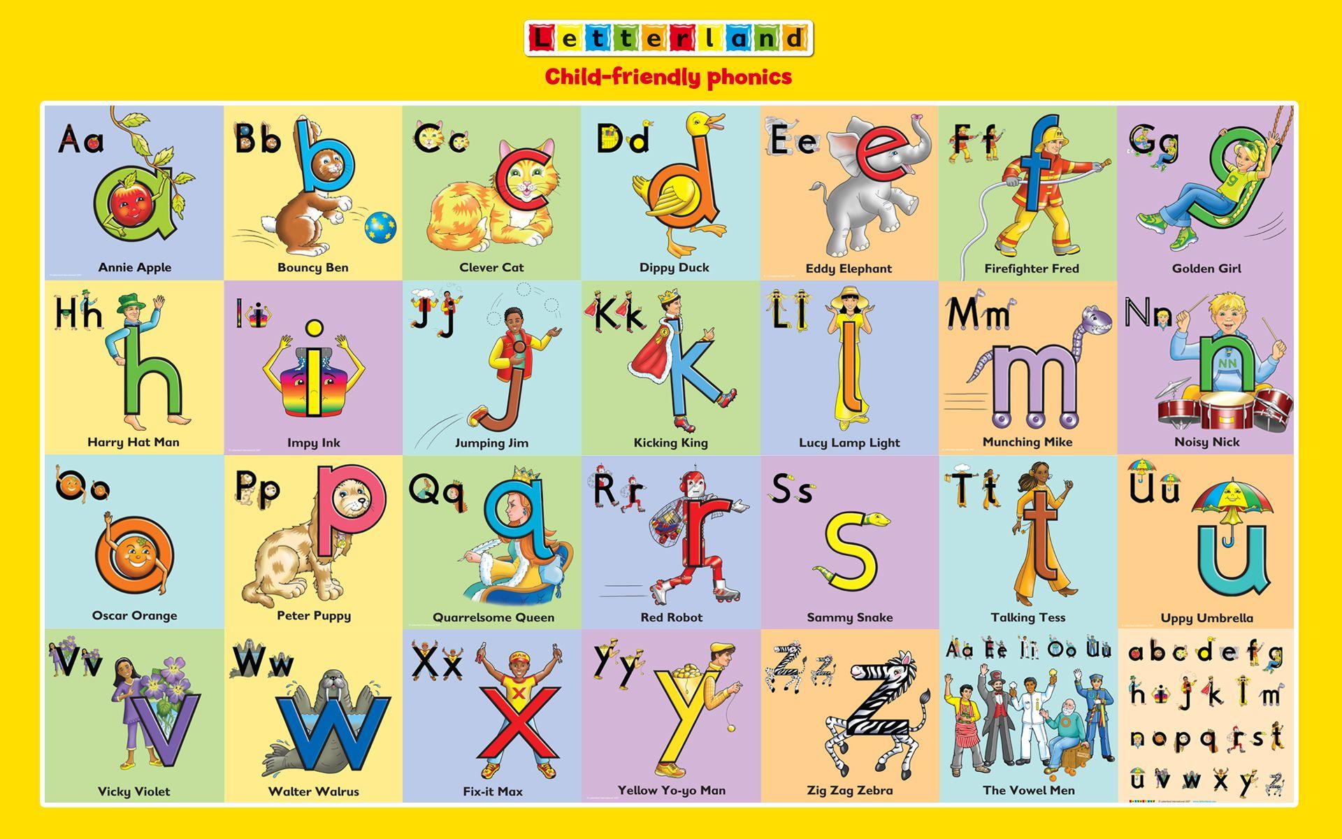 Worksheets Worksheet On Letter Land Song letterland characters pre k pinterest characters