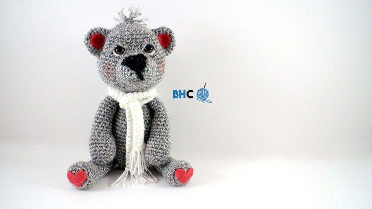 The Cutest Crochet Bear Pattern - Free from B.hooked Crochet #crochetbearpatterns
