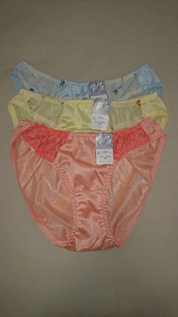600d8c65d A set of 3 x NWT Vintage Nylon Bikini Panties from Japan, in size 10 ...