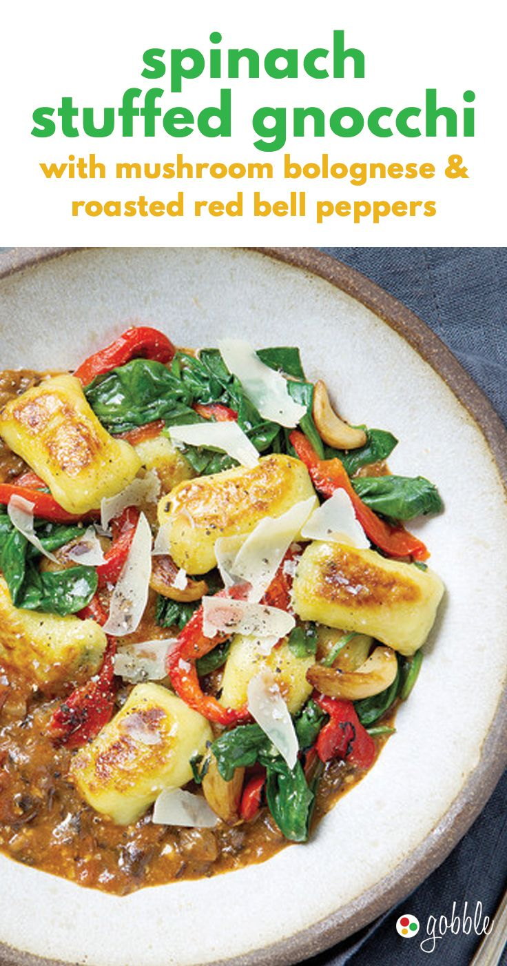 Gobble Spinach Stuffed Gnocchi Dinner In 15 Minutes Dinner