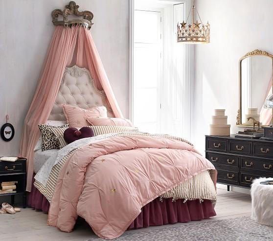 The Emily & Meritt Cotton Tulle Bed Skirt Simple bed
