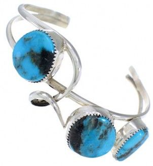 Turquoise And Sterling Silver Navajo Jewelry Cuff Bracelet EX23154 http://www.silvertribe.com