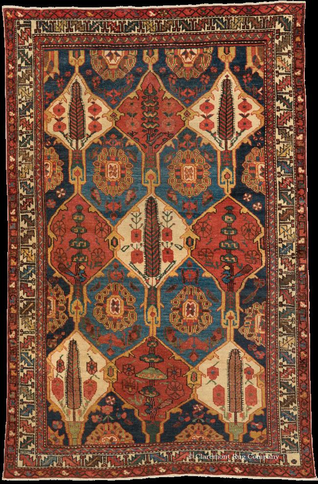 Guide To Antique Persian Bakhtiari Rugs Claremont Rug Company Bakhtiari Rugs Antique Persian Rug Antique Oriental Rugs