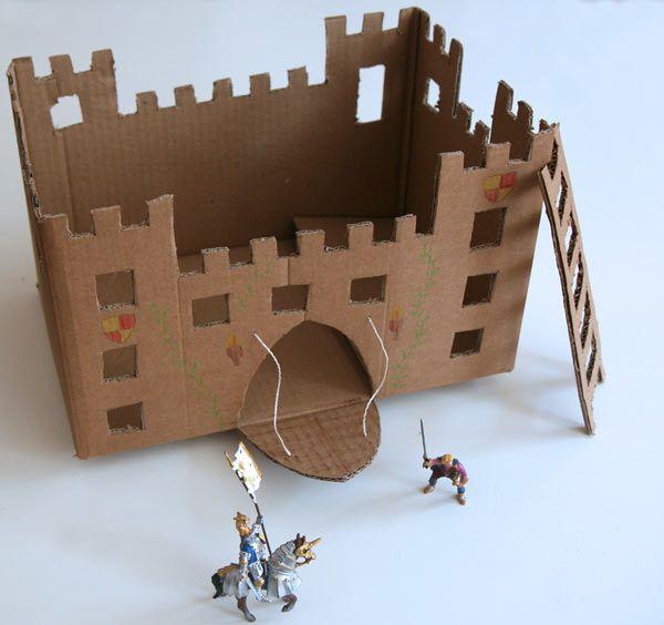 Ch teau fort en carton enfants ch teau en carton forts en carton et jouets en carton - Gabarit maison en carton ...