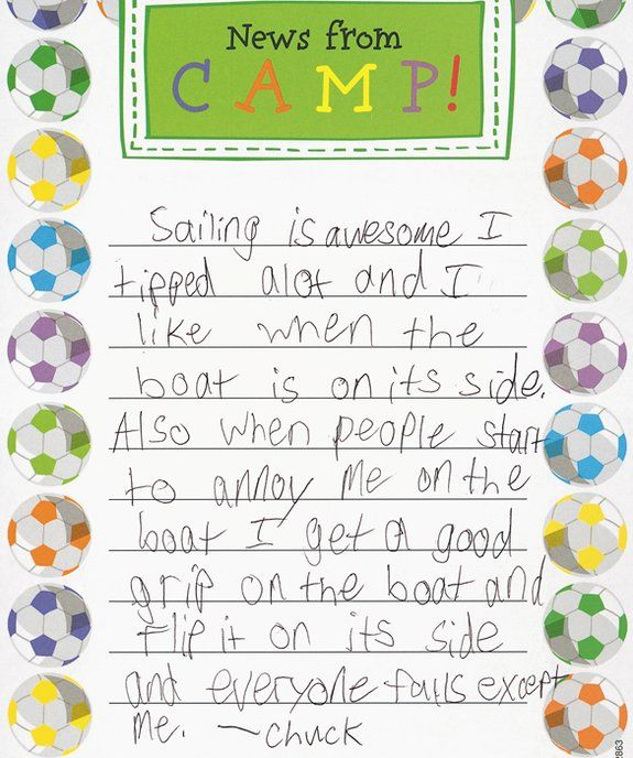 Day  MomMe Goes SugarFree  Camp Letters Hilarious And School