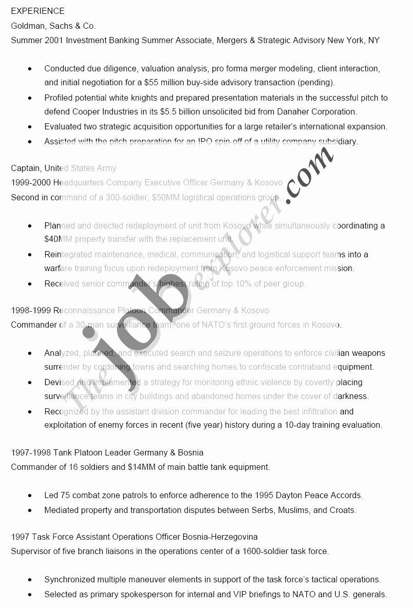 20 Goldman Sachs Investment Banking Resume Basic resume